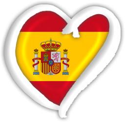 Spain Flag Heart