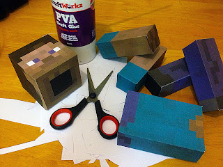 Minecraft paper model Steve papercraft template printable