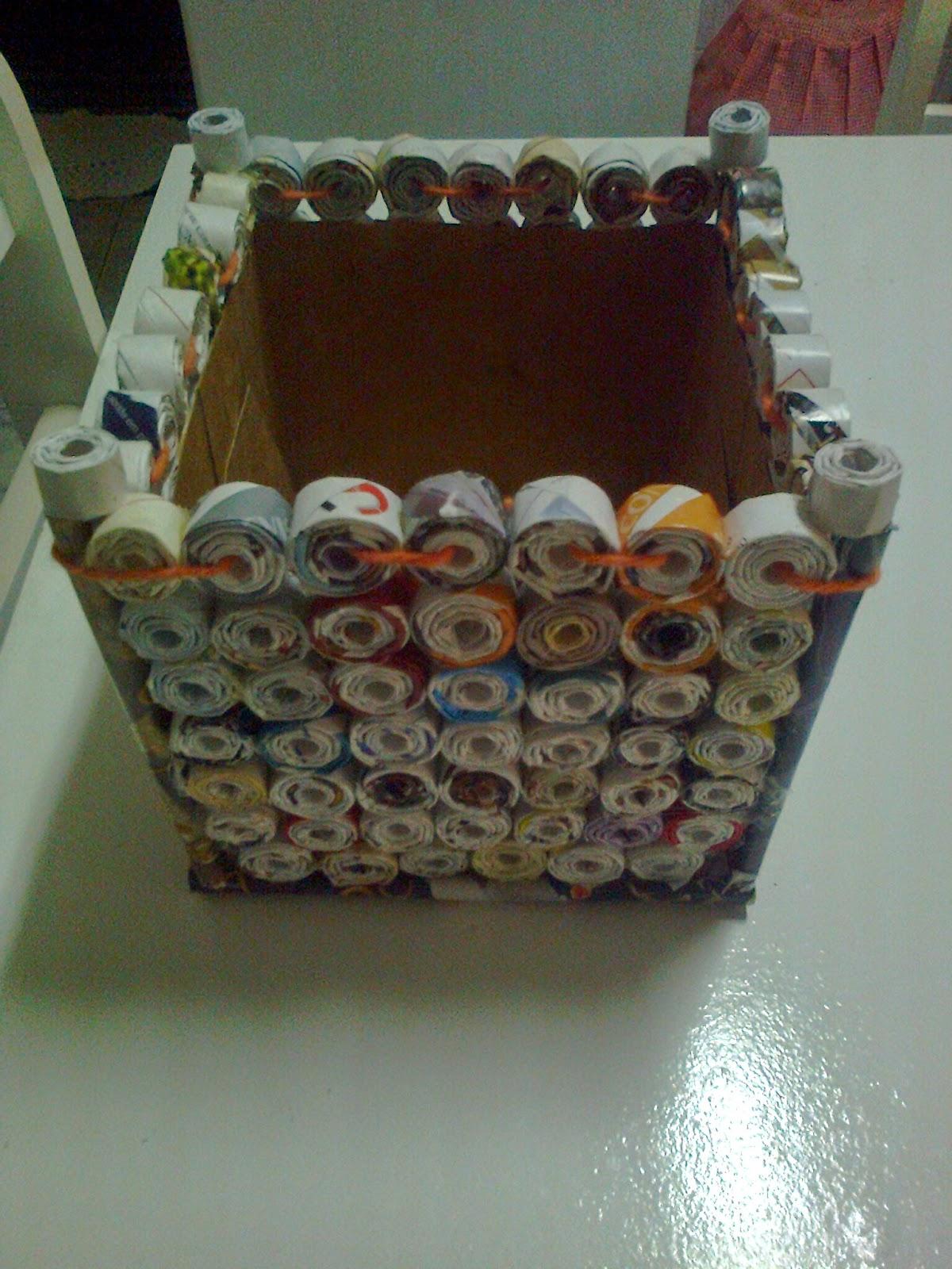 Andrea Artesanato Goiania ~ Artesanato costureira bijuterias reciclagem e outros caixa de rolinho de papel de revista