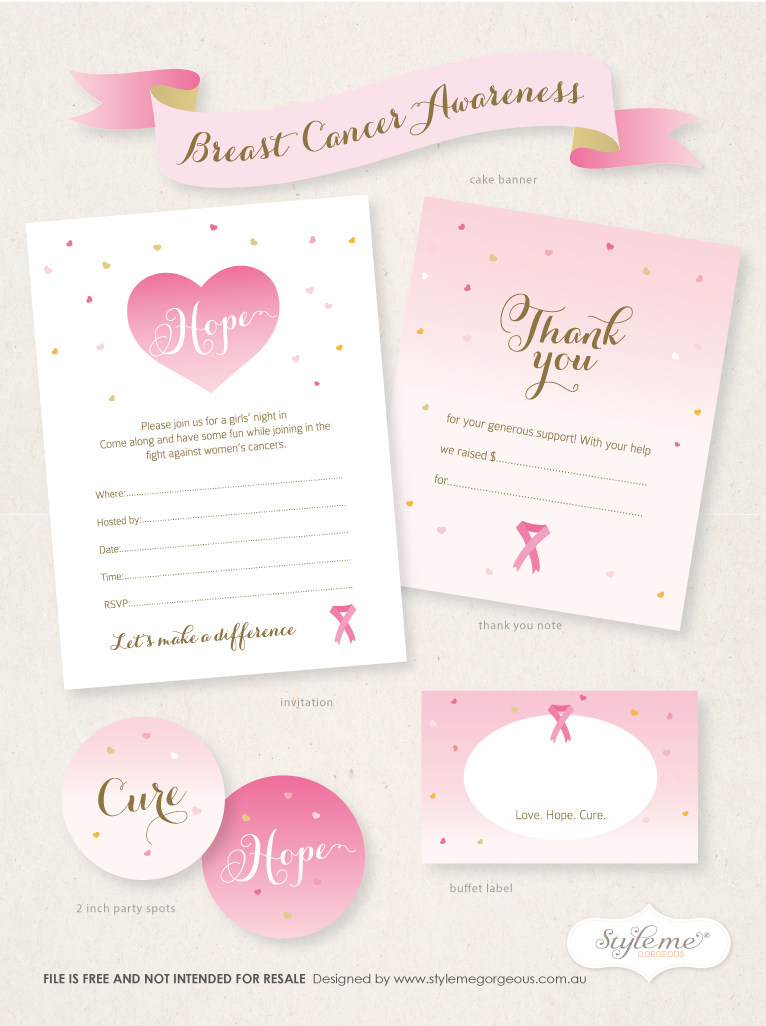 Breast Cancer Cards Printable http://stylemegorgeous-bysarah.blogspot.com/