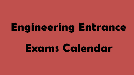 Engineering Exam Calendar 2015-2016