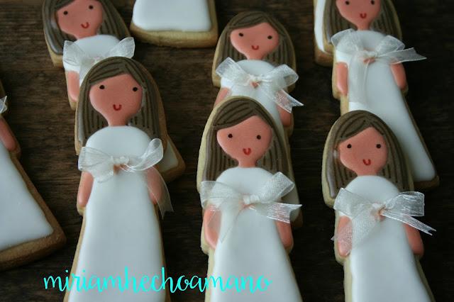 galletas comunion niña