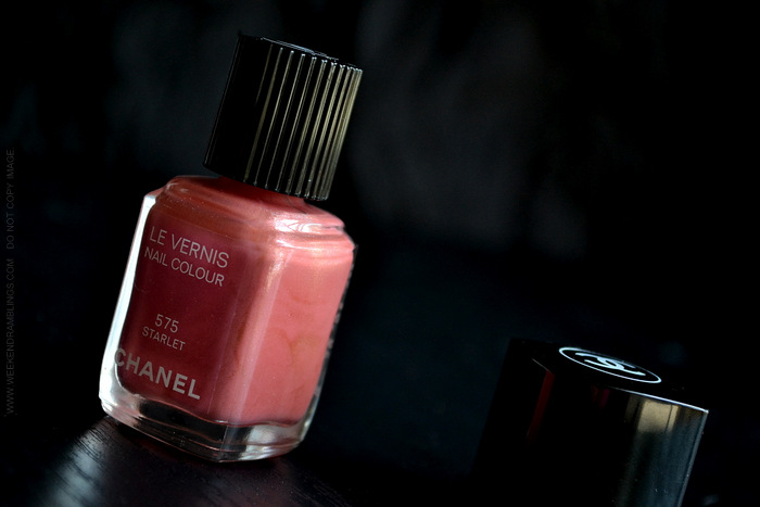 Chanel Nail Polish Starlet 575 Avant Premiere Makeup Collection Swatch Photos Review NOTD Indian Beauty Blog