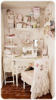 shabby craft room