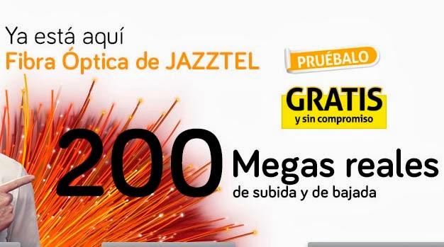 200 megas simétricos gratis con Jazztel durante 2 meses