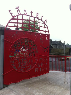Gate on Church Street to Eastern Primary School in Broughty Ferry