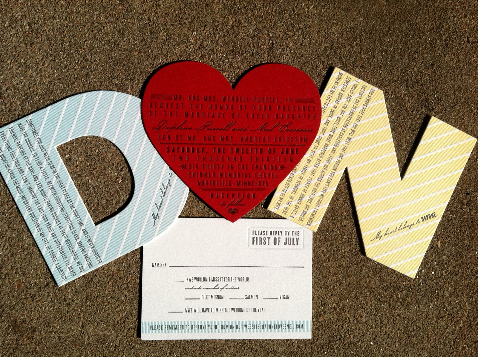 Letterpress Wedding Invitations | Wedding Invitations