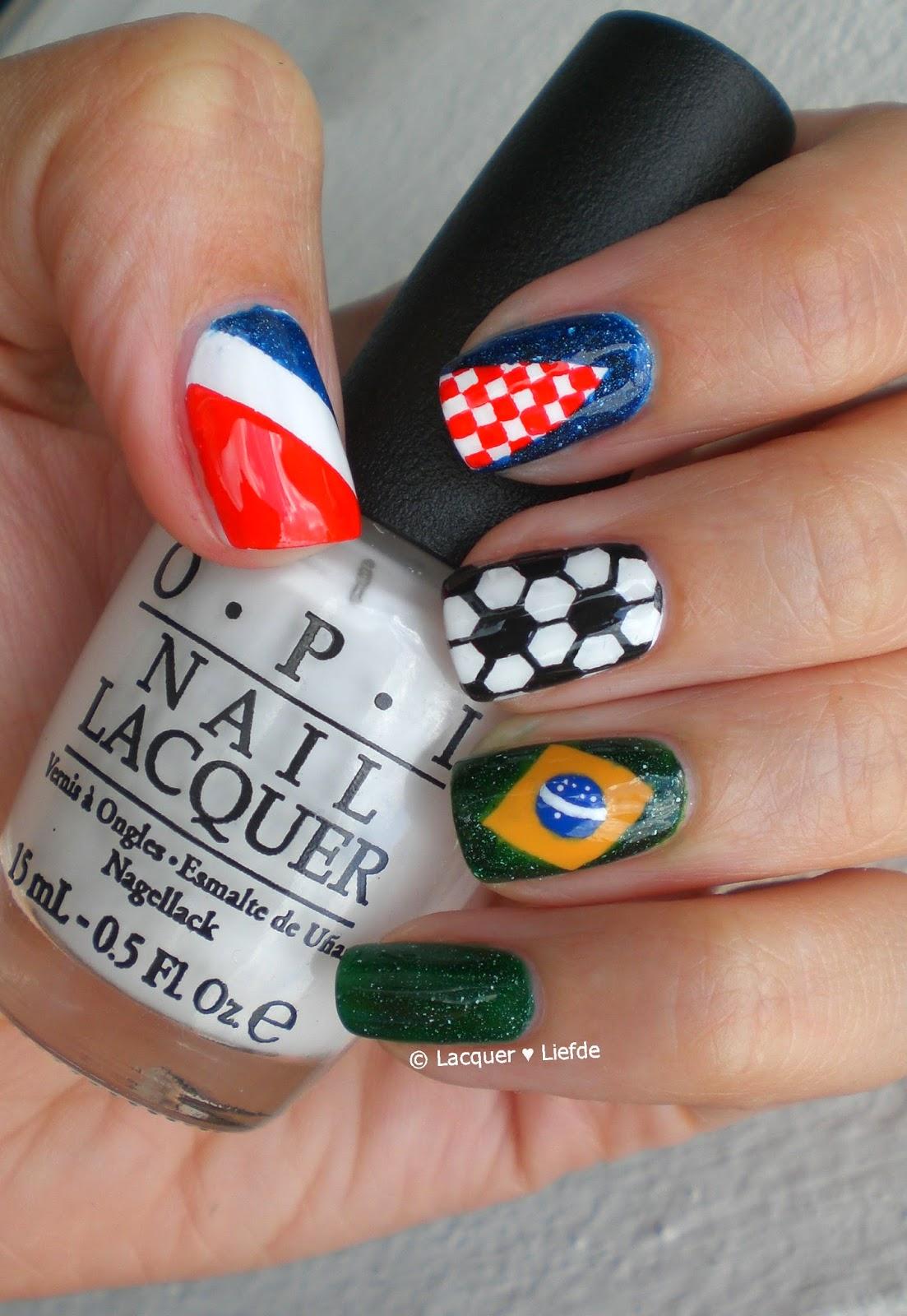 soccer worldcup Nailart brasil kroatia
