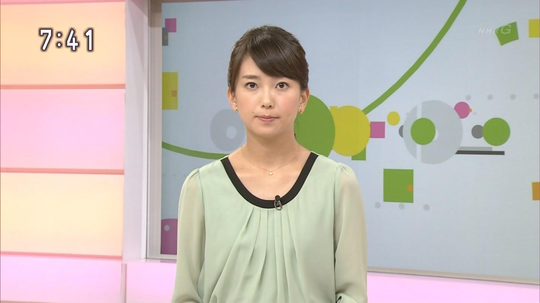 和久田麻由子 2014年10月5日放送、NHK総合『NHKニュースおはよう日本』(日曜版 7:00~7:45)からのキャプチャーで、和久田麻由子さんの画像です。