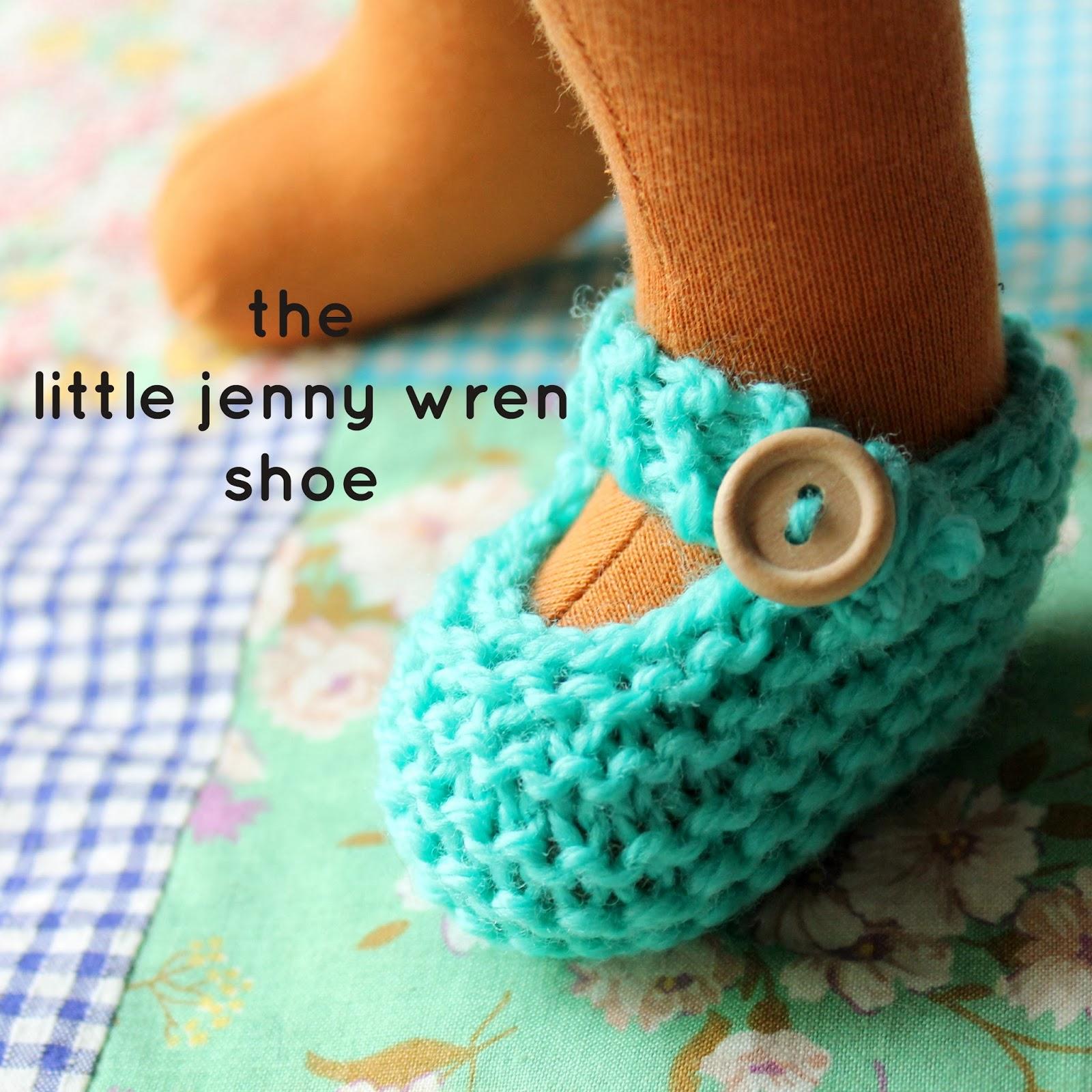 Knitting Patterns For Dolls Booties : the little jenny wren shoe, a simple knitted doll shoe little jenny wren ...