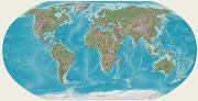 Mapa que detalla todo el globo