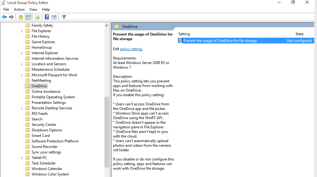 windows 7 remote group policy editor