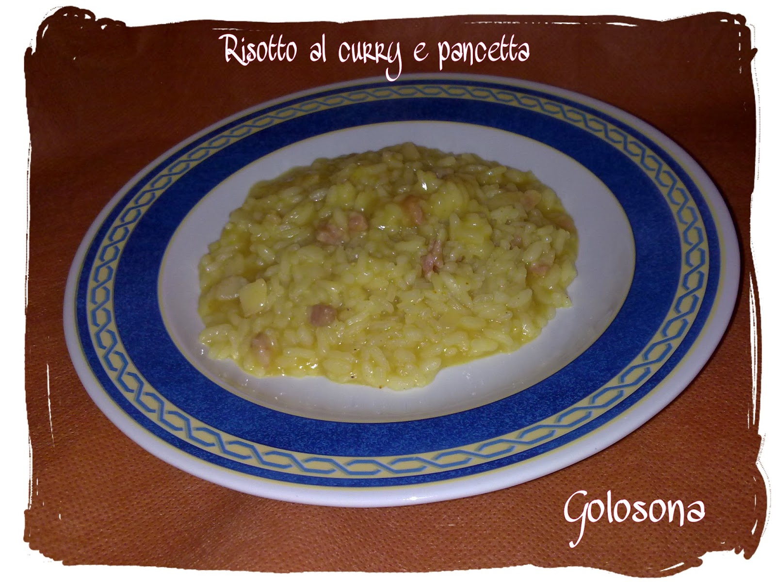 risotto curry e pancetta