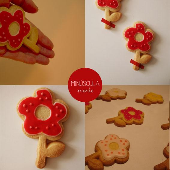 galletas con forma de flor