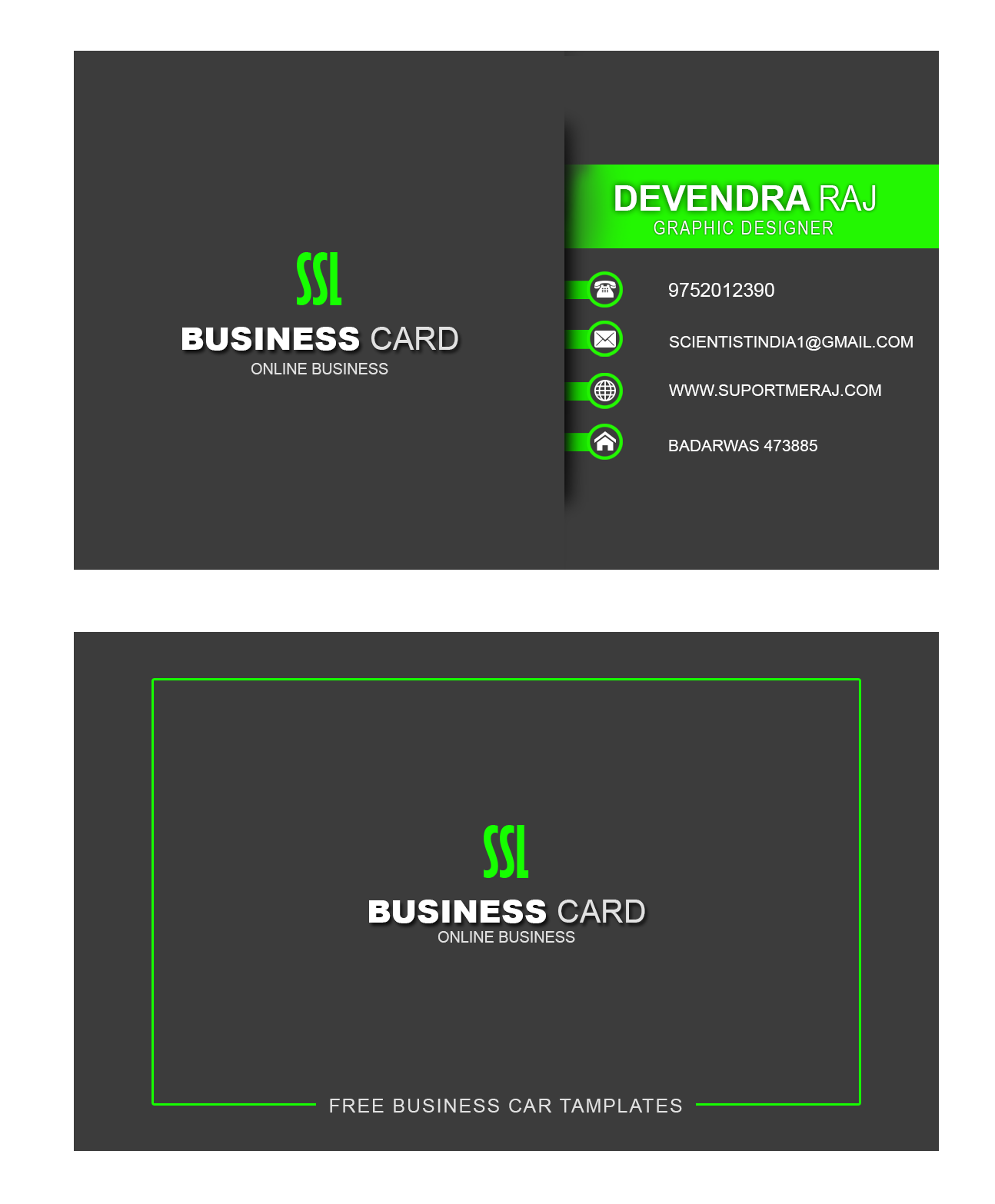 Free Business Card Template For Mac