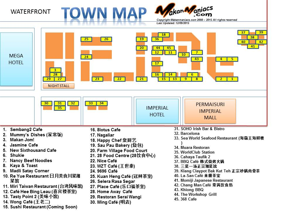 makanmaniacscom Its all about food Miri Town Map