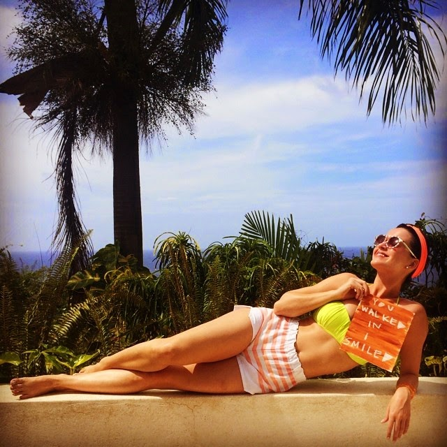 That's not stopping Katy Perry from getting in the warm weather spirit as she soaked up the sun in a yellow bikini and shared the glory into Instagram pages on Sunday, June 8, 2014.