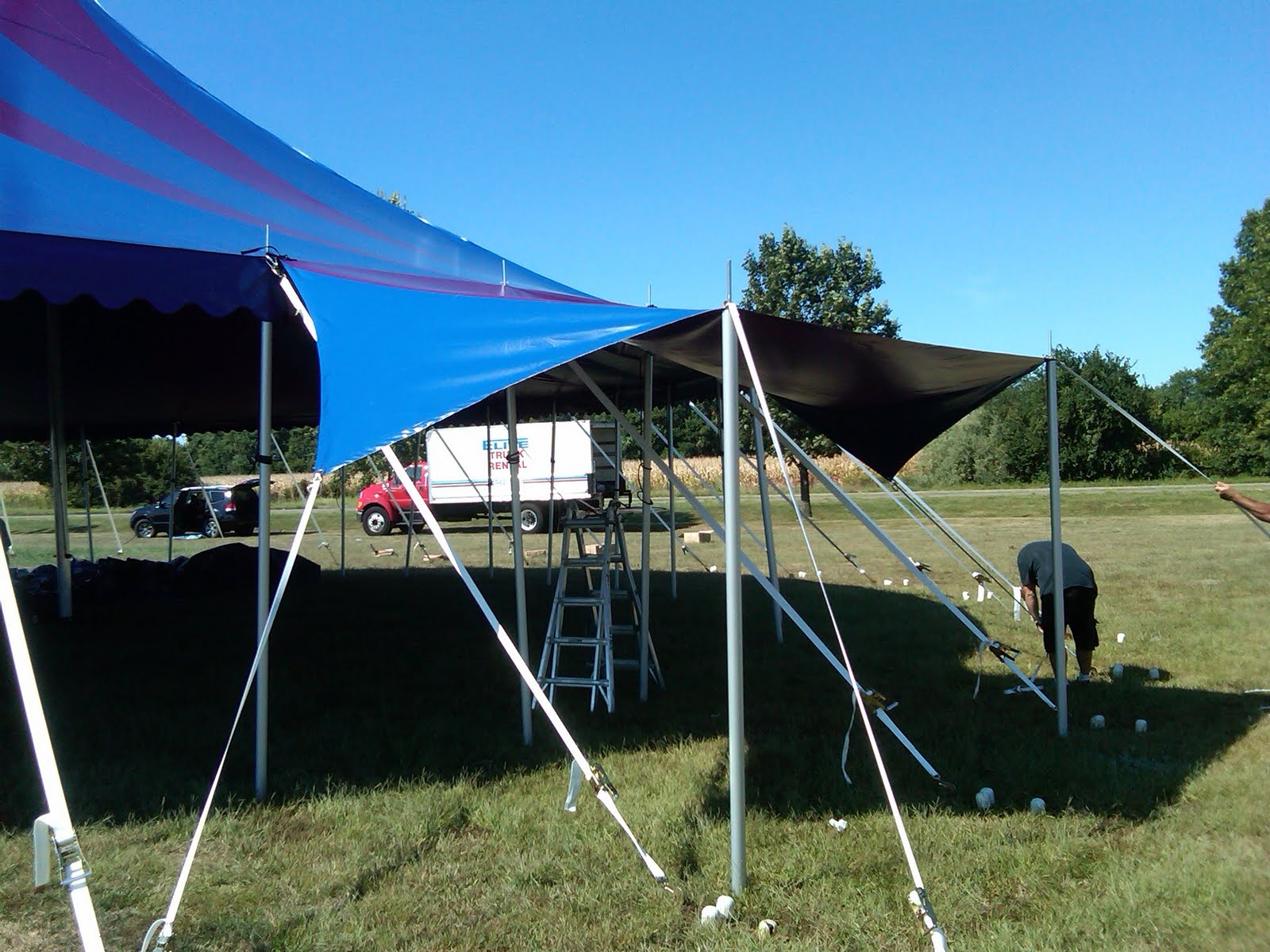 Pictures of the Midnight Circus Tent installed for the first show in Chicago IL. Tent was perfect for the opening performance. Custom tension entrances ... & Circus Tent for Midnight Circus | Armbruster Tent Maker