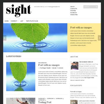 Sight blogger template. clean and minimalist blogspot template. download free blogger template