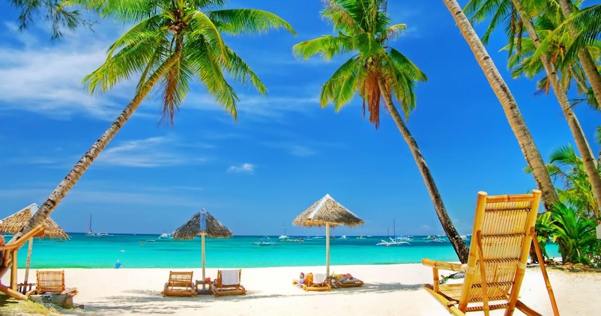 Fondo de pantalla paisaje hamaca en la playa del caribe imagenes - Fotos de hamacas en la playa ...
