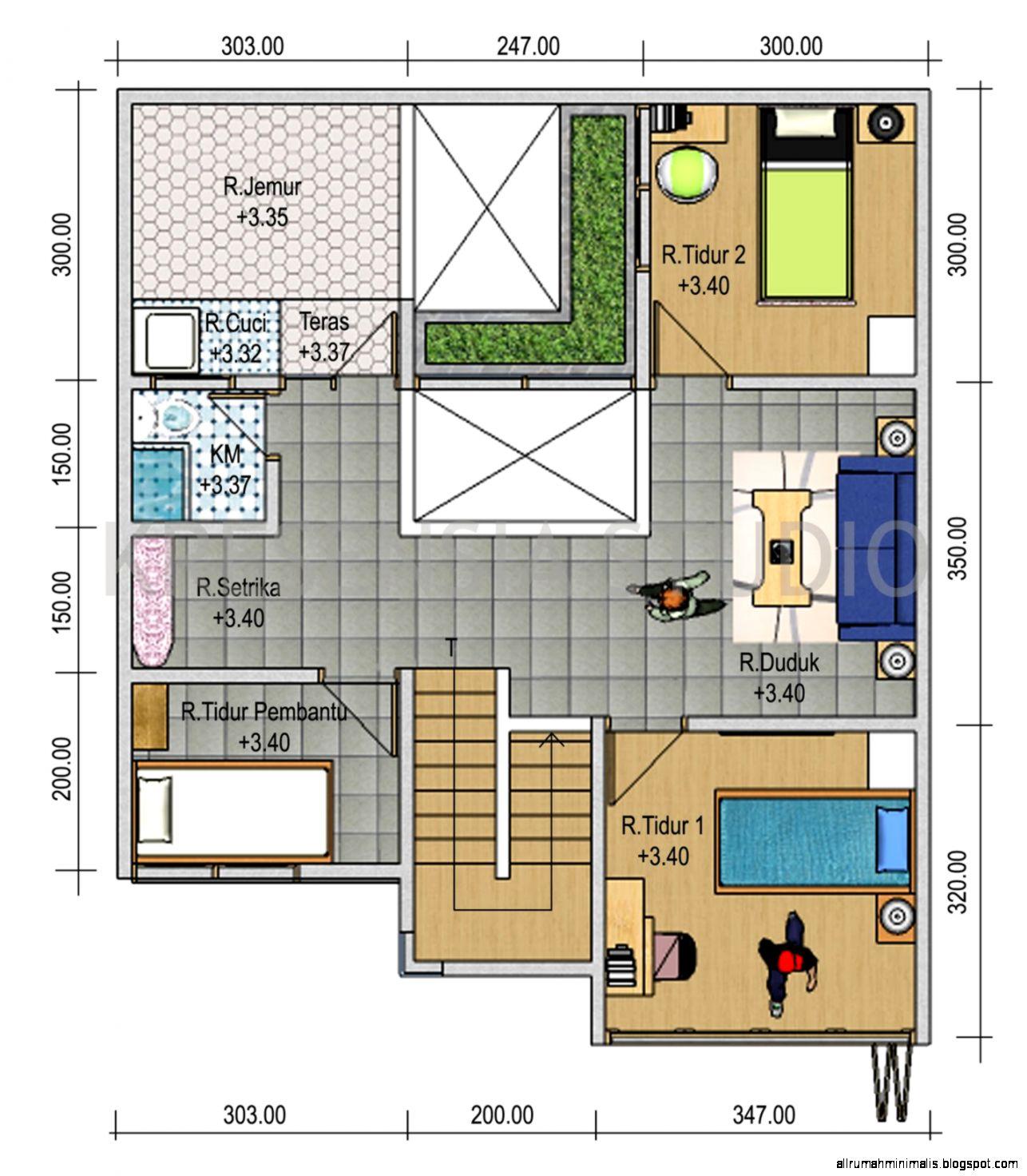 Gambar Contoh Sketsa Denah Rumah Minimalis Modern 2014  Trend 2015