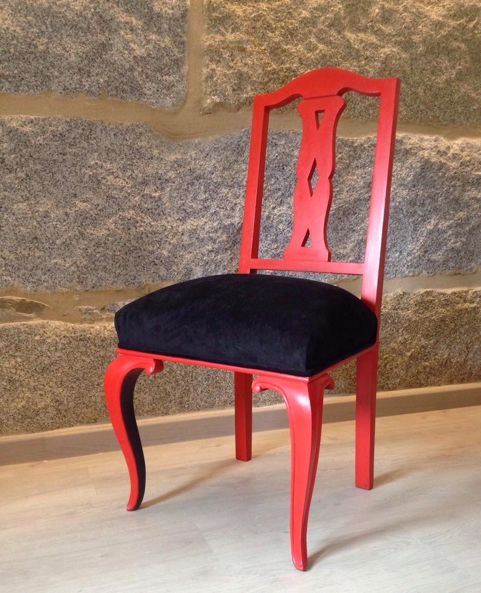 Madame Vintage Sillas De Comedor En Rojo Y Negro