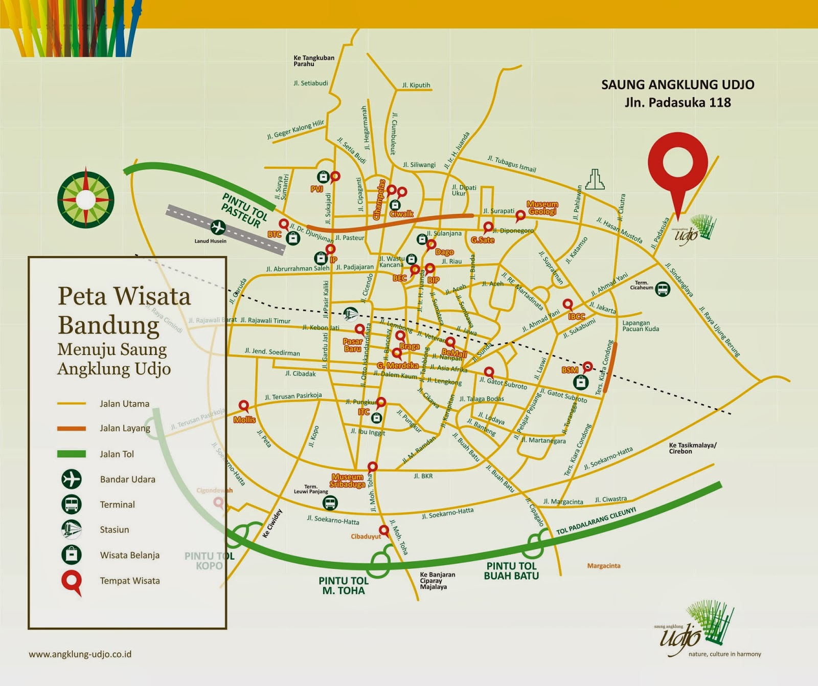Bandung map for tourist sciox Gallery