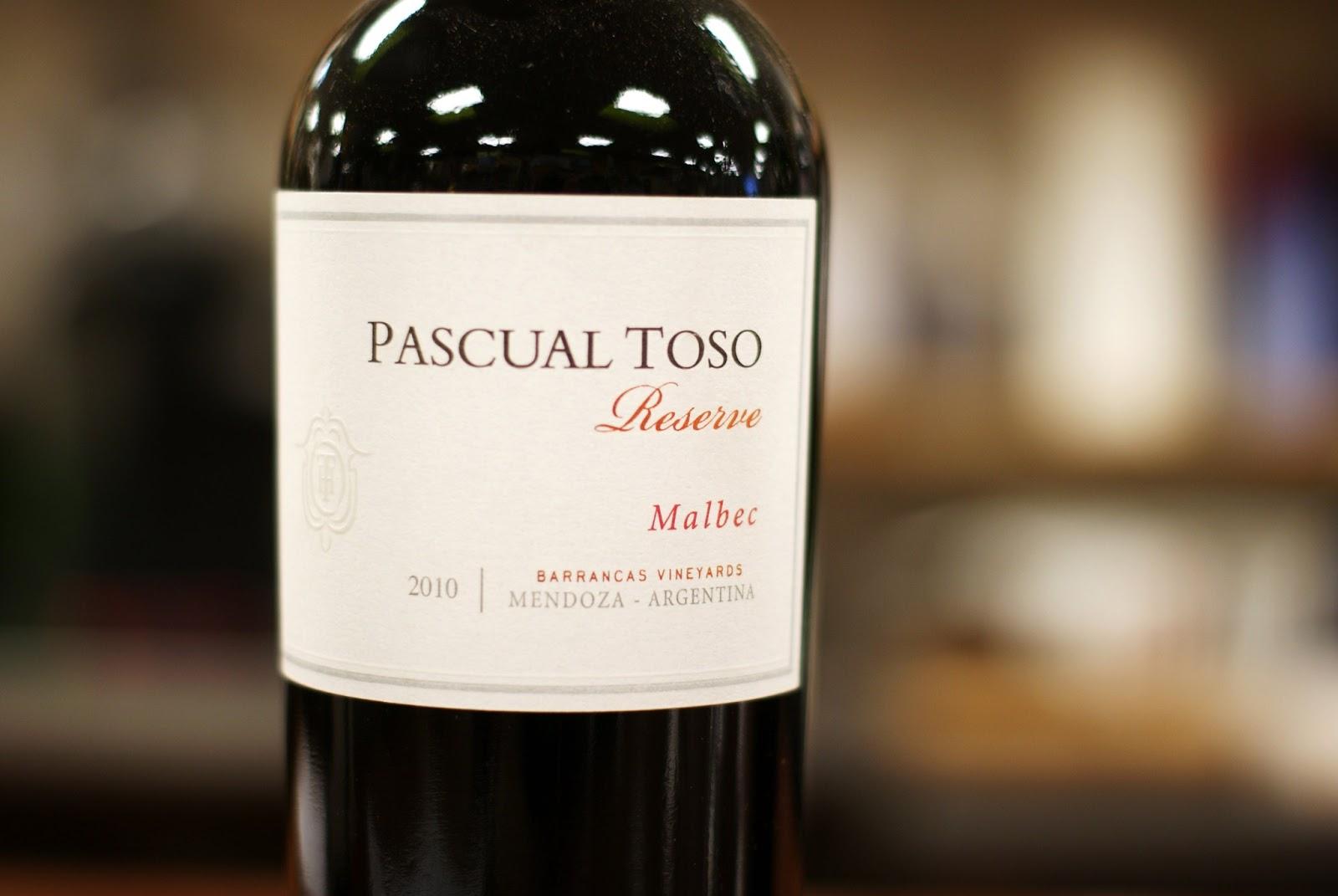 Pascual Toso Malbec Mendoza Reserva Argentina Red Wine