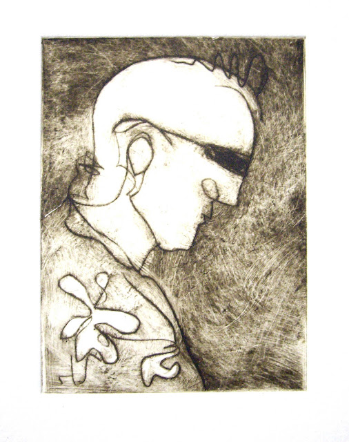 Etching by Bridget Farmer