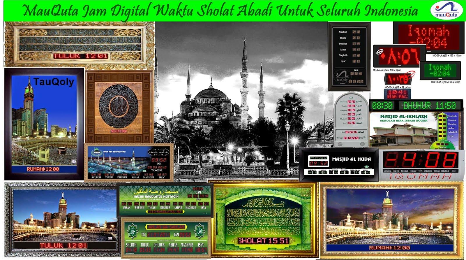 Jam Adzan Mauquta - Elektronik Jadwal Sholat