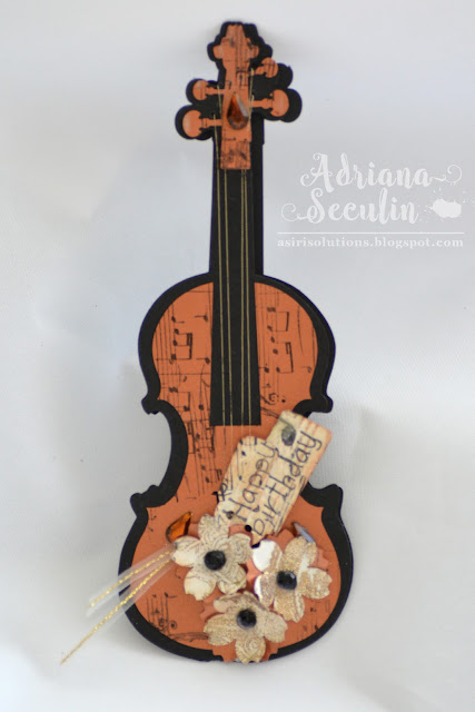 Card aniversar muzical