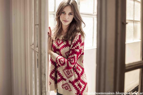 Moda otoño invierno 2014 Sweaters tejidos Cuesta Blanca.