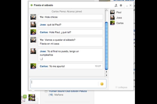 Group chat - Chat en grupo - tuenti