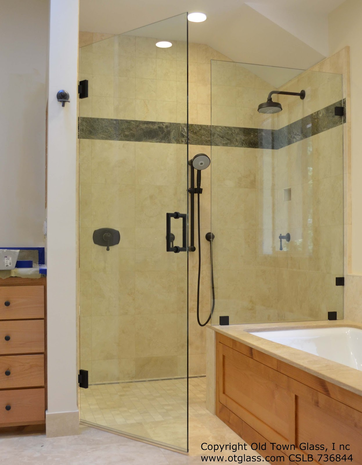 Bath Remodel With An Amazing Glass Shower Enclosure In Mill Valley
