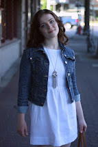 Blue White Dress with Jean Jacket