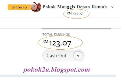 Cash Out Nuffnang RM123, nuffnang