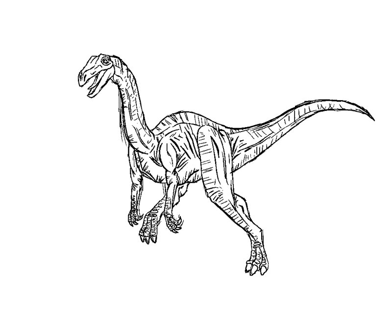 Velociraptor Jurassic Park Coloring Pages