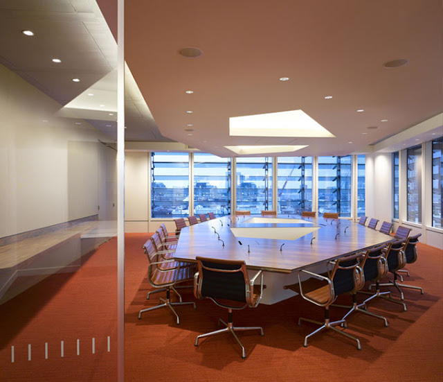 Photo of a conference room with big table