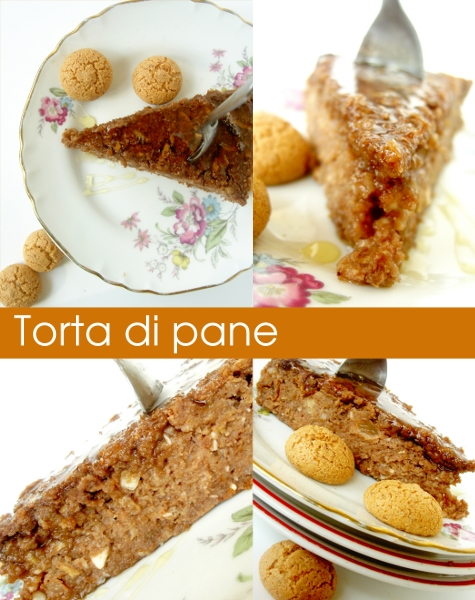 torta di pane con uvetta, noci macadamia e cacao