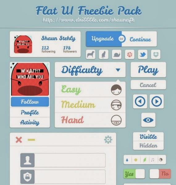 Flat UI Freebie Pack