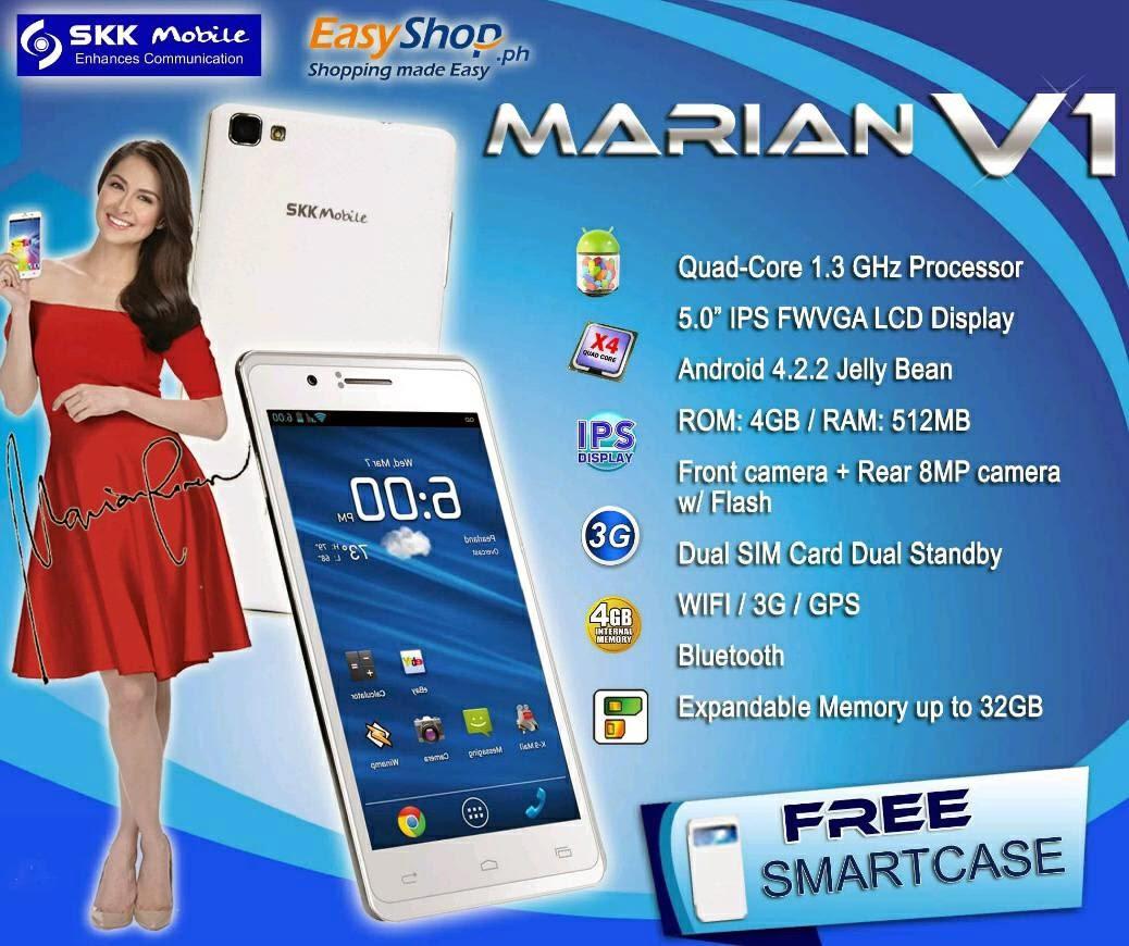 SKK Mobile Marian V1,  Newest Quad-Core Phablet Named After Marian Rivera