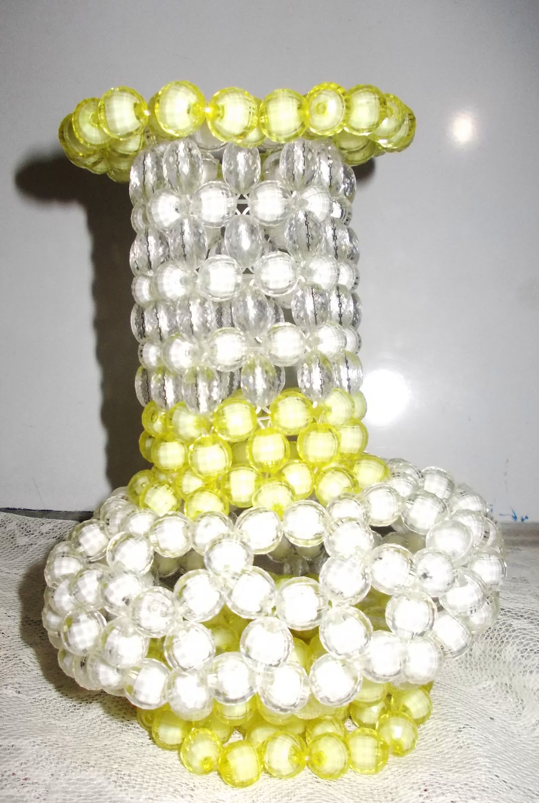 Home art and craft gallery plastic bead flower vase showpiece m 97 reviewsmspy