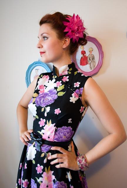 Asian inspired retro dress by Cherise