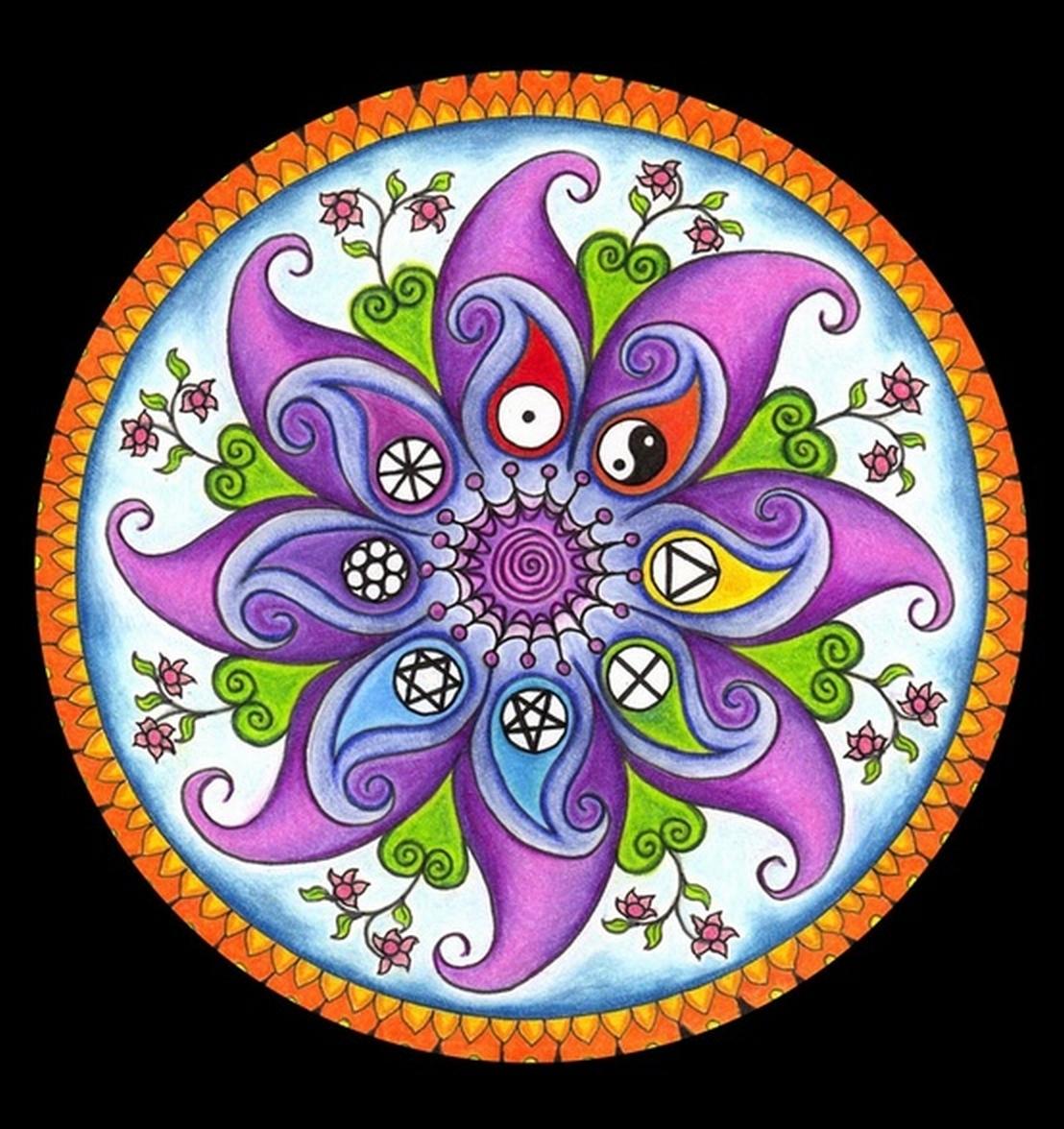 Mandalas para pintar mandalas para pintar con ejemplo for Los colores para pintar