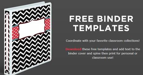 binder cover page template