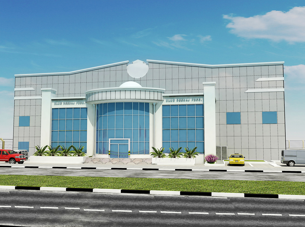 Design Of Front Elevation Of Commercial Building : D front elevation abu dhabi commercial design