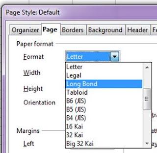 cara Format page di OpenOffice Calc dan LibreOffice Calc