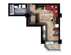 Royal Town Copou Iasi - Apartament 1 camera - 39 mp