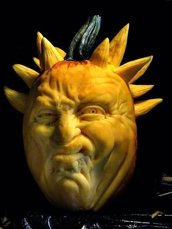 The Most Terrible Carved Pumpkin for Halloween By Jon Neill