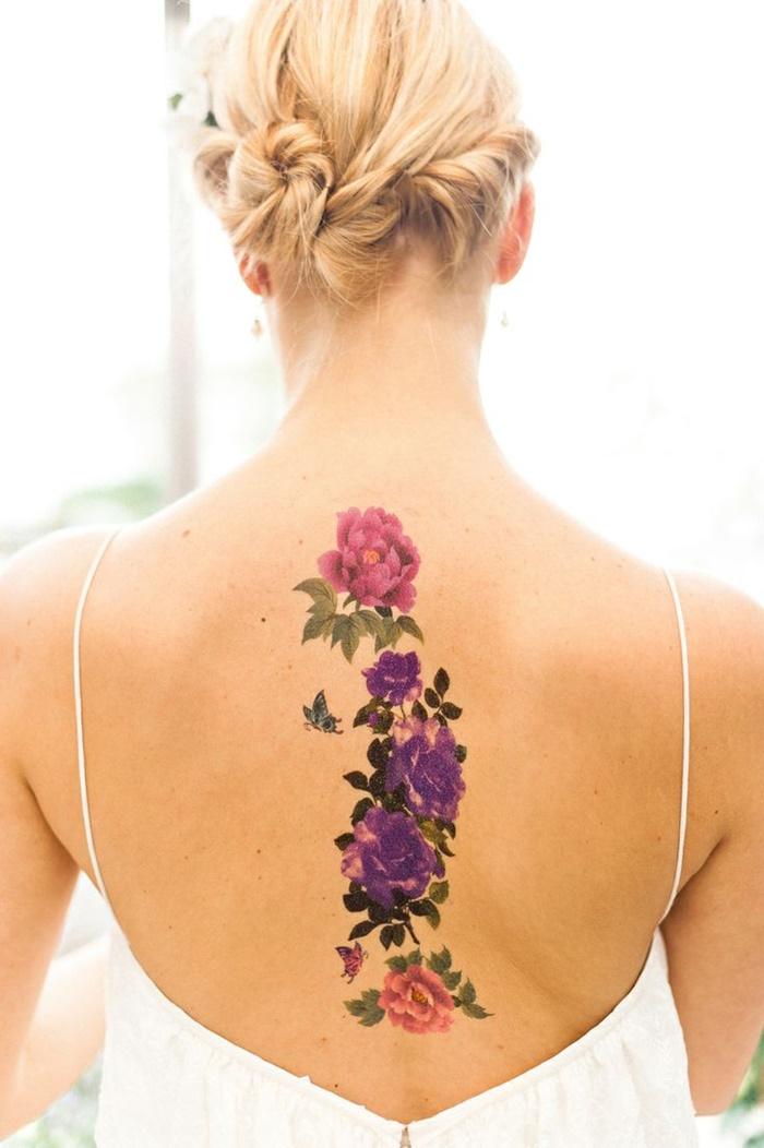tatuajes espalda flores